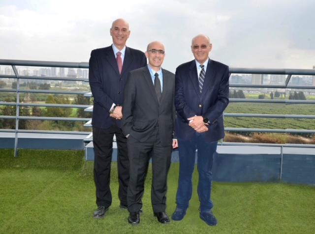 The fund owners from right to left: Dr. Shuki Gleitman, Avner Lushi, Prof. Shlomo Noy. By: Tamar Mazafi