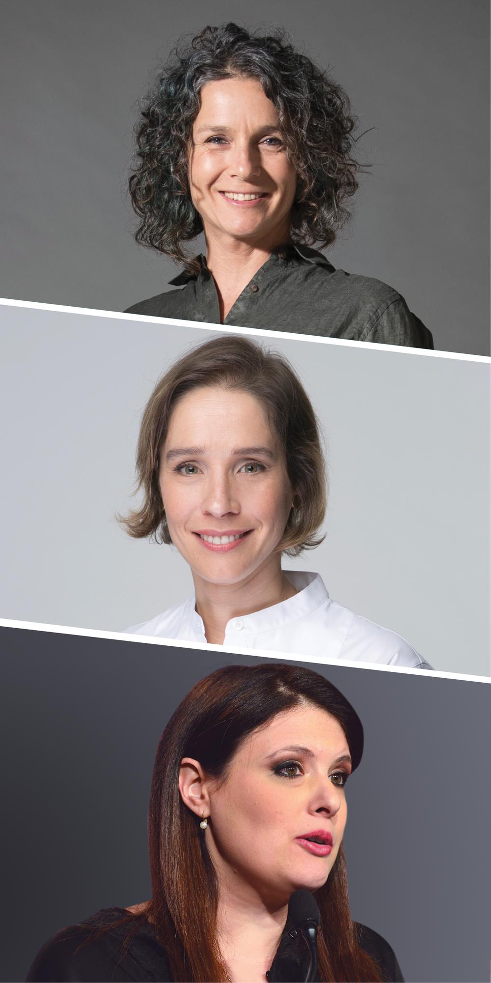 מלמעלה: אגמון, בר און וסיקולר   צילומים: גלובס