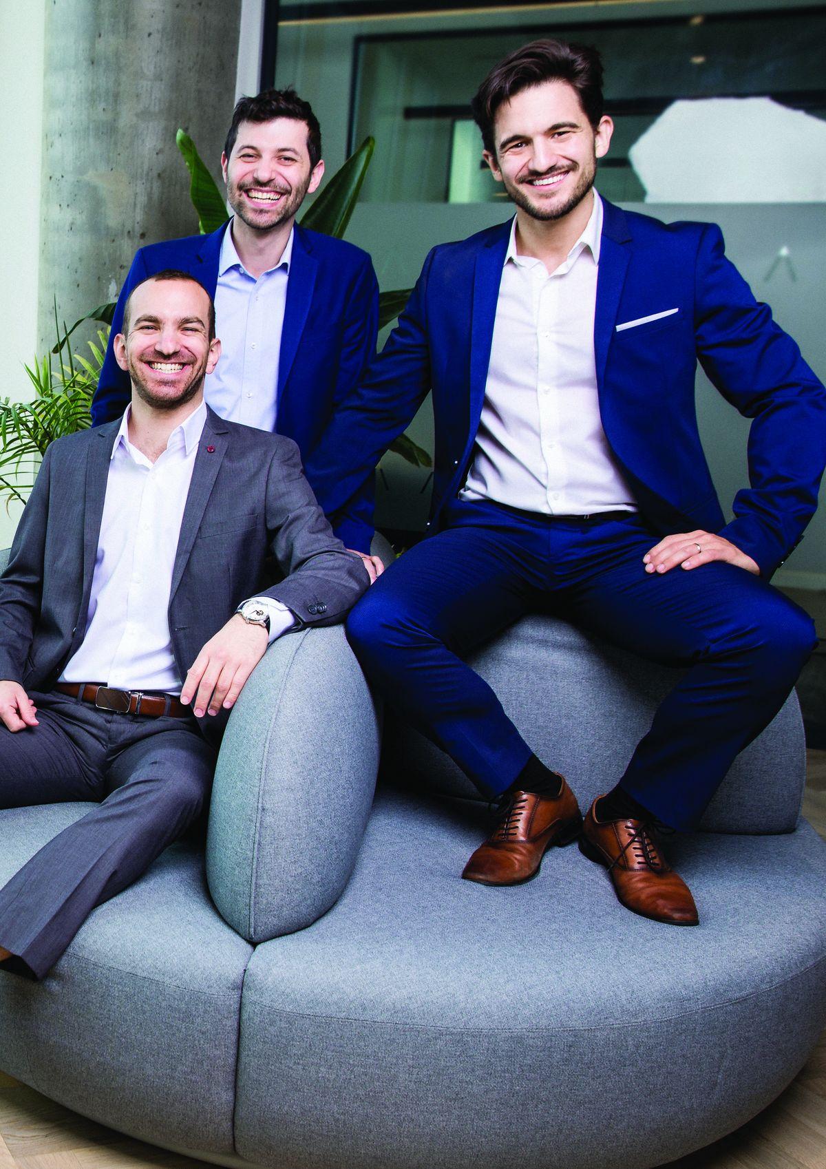 גיא ריינר, אלעד וולך ומיכאל ברגינסקי, צילום: ניר סלקמן