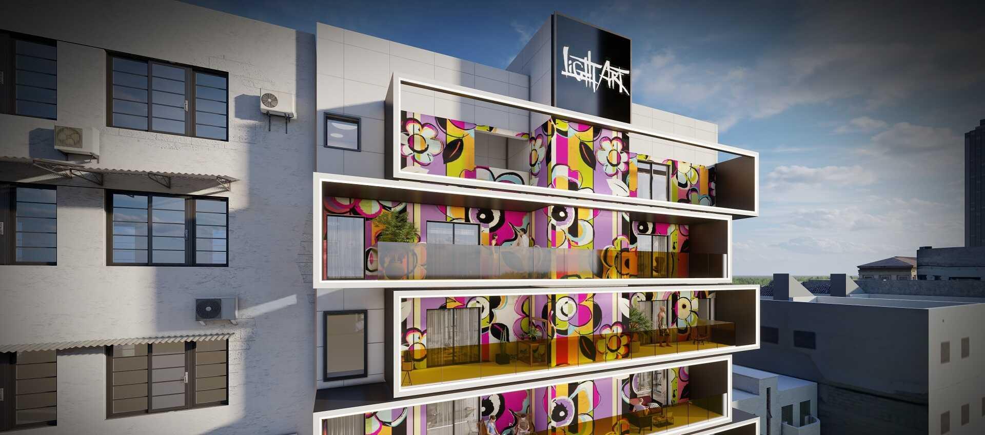 הבניין שעתיד לקום ברחוב הקישון בתל אביב. הדמייה: LighatArt