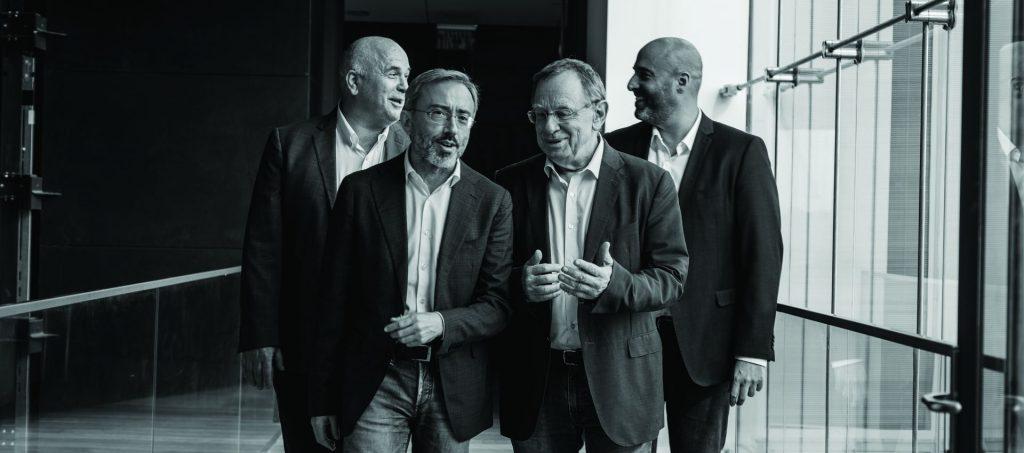 מימין: חביב, שמיס, ביאר וקליין. צילום: פרו אסטרטגיה