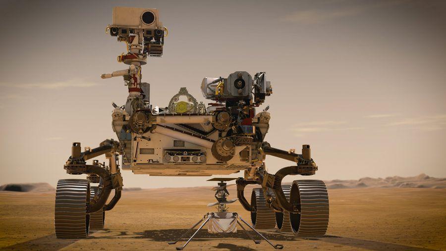 """ה-Perseverance rover של נאסא, ארה""""ב. בעלות של 2.7 מיליארד דולר הוא צויד בטכנולוגיות מתקדמות ובמסוק שיסרוק את כוכב מאדים. צילום: NASA.com"""