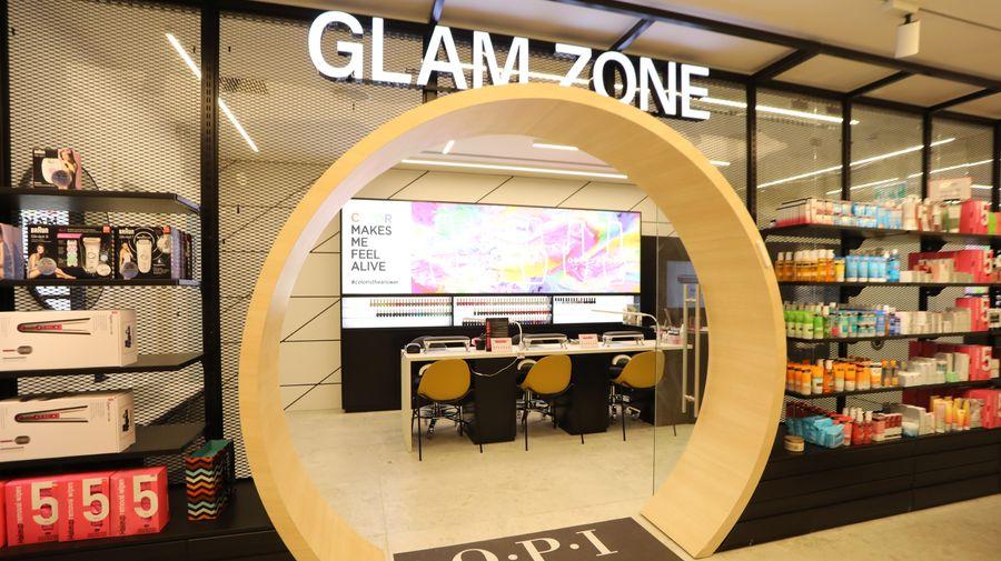 מתחם ה-Glam Zone בסניף Gallery ראשון לציון. צילום: חן גלילי