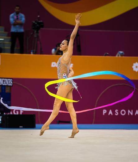 המתעמלת האולימפית לינוי אשרם זכתה ב-2 מדליות זהב בגביע העולם