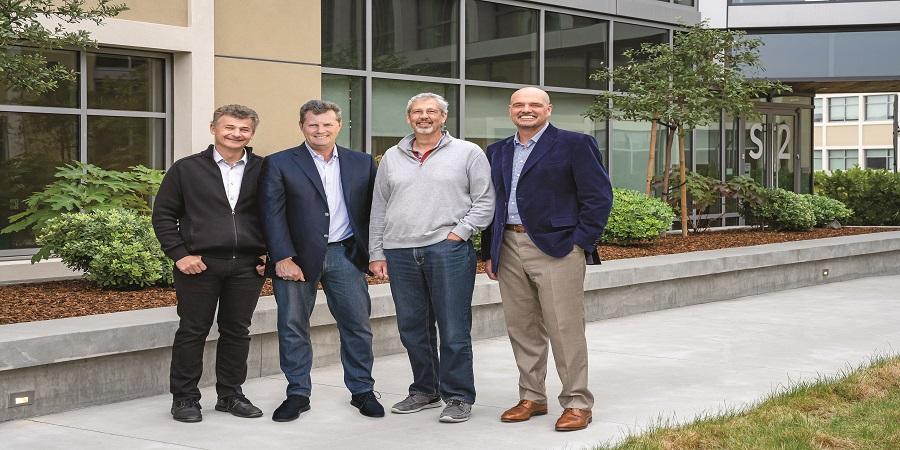 מייסדי Snowflake: דאגוויל, קראונס, סלוטמן, וסקרפלי. צילום: Snowflake
