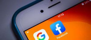 פייסבוק וגוגל - אילוסטרציה. צילום: Shutterstock
