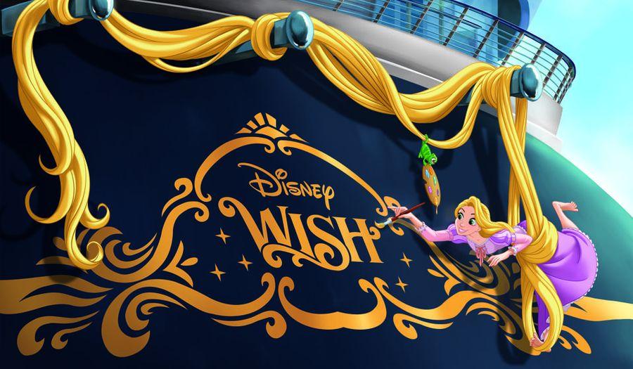סימן ההיכר האהוב של דיסני קרוז ליין, זו הייתה מסורת לקשט את גב ספינות דיסני עם דמות איקונית המשקפת את הנושא של כל ספינה. הירכתיים של דיסני Wish יכללו את רפונזל. צילומים: Disney