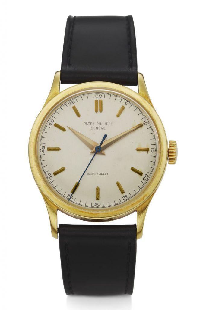 שעון הפאטק פיליפ, עשוי 18 קראט זהב, שהיה בבעלות האומן אנדי וורהול. צילום: באדיבות Christie's