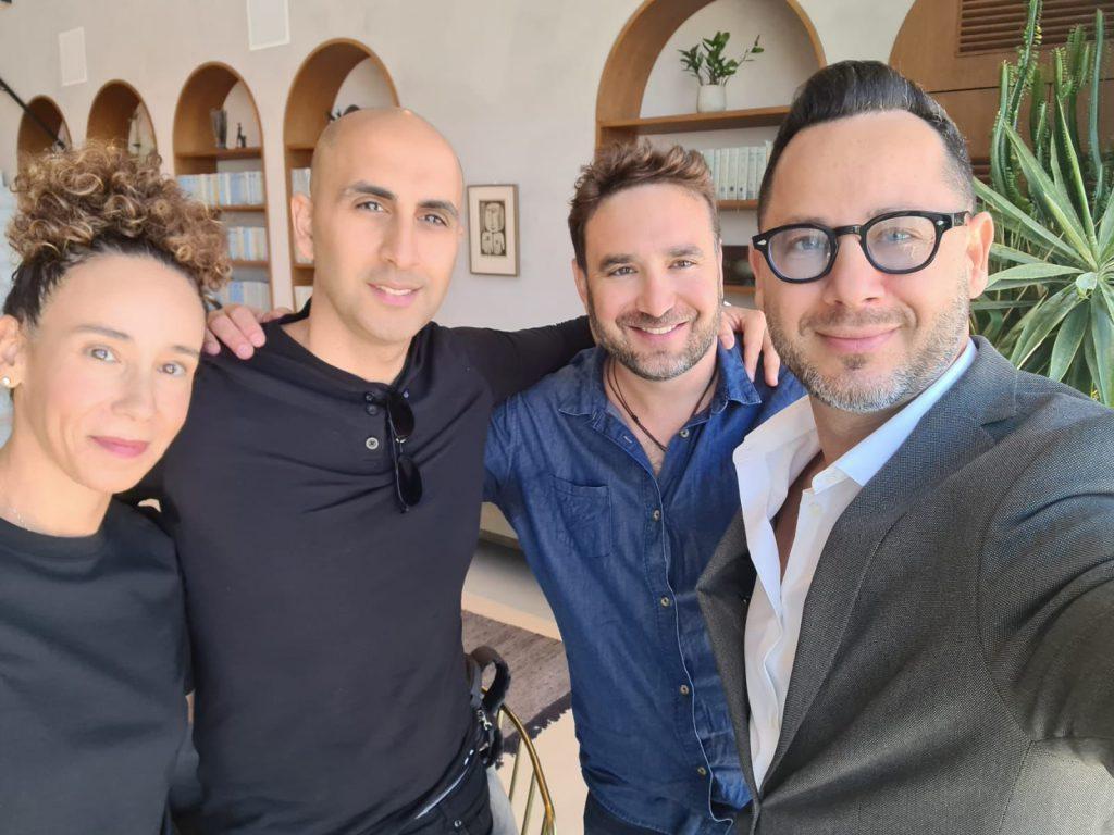 """מייסדי הקרן מימין לשמאל: אודי דנהריש, ליאור הרמן, ירון שגיא ועינת ברקוביץ׳. צילום:  יח""""צ"""