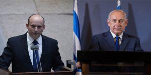 Netanyahu and Bennett. by?L Shutterstock and Kobi Gideon Lam