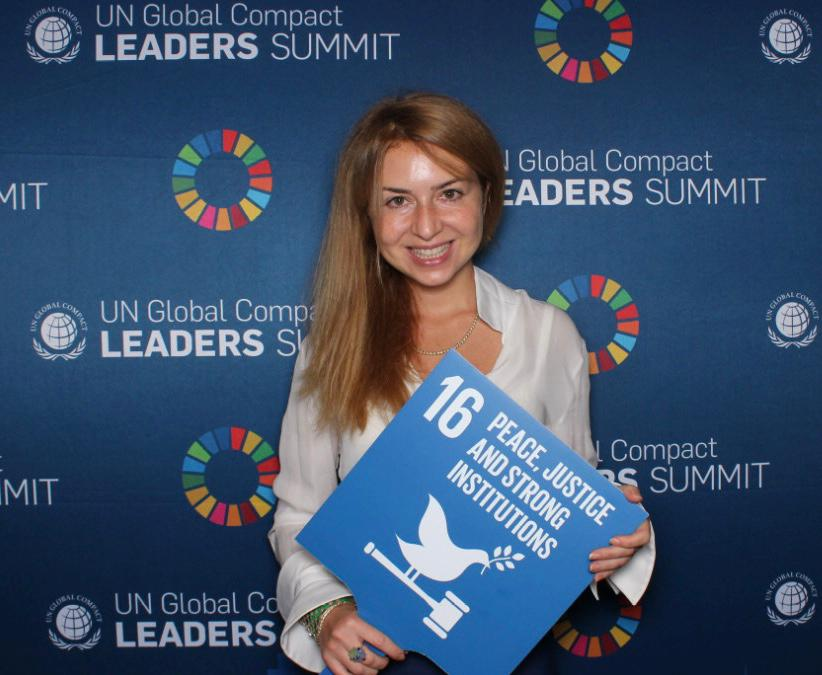 """אנג'לה חומסי בוועדת האו""""ם   צילום: באדיבות המצולמת"""