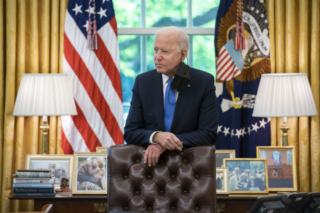 הנשיא המכהן ג'ו ביידן. ינסה למחוק את מורשת טראמפ?   צילום: White House, Adam Schultz