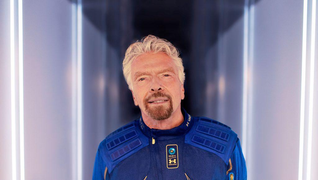 המיליארדר ריצ'רד ברנסון. הקדים את בזוס בימים ספורים בלבד במירוץ לחלל   תמונה: Virgin Galactic