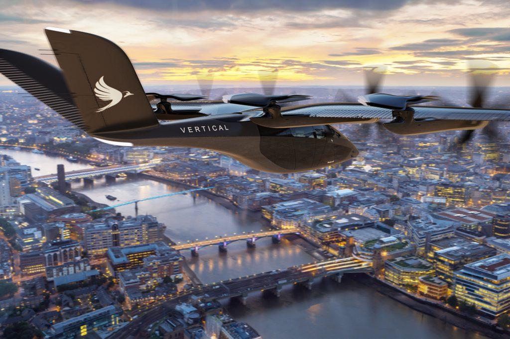 דגם המונית המעופפת של חברת ורטיקל | צילום: Vertical Aerospace