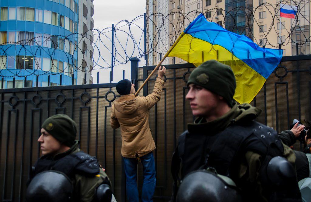 הפגנות באוקראינה   צילום: Shutterstock