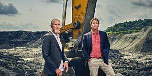 ביל ספנס ושותפו גרג בירד. מצאו דרך להפוך את כריית הביטקוין לירוקה   צילום: Aaron Kotowski for Forbes